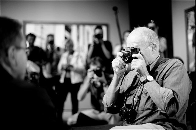 Peter Lindbergh with a Holga Camera Press Conference C/O Berlin