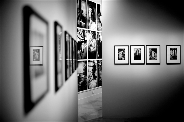 Installation view of Anders Petersen retrospective at Bibliotheque Nationale BnF Paris
